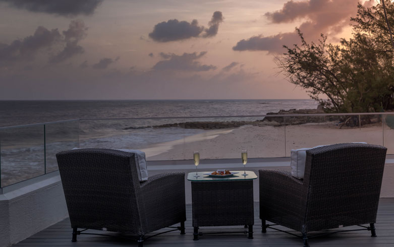 Aqua Terra Restaurant right Snippet at Sea Breeze Beach House Christ Church, Barbados