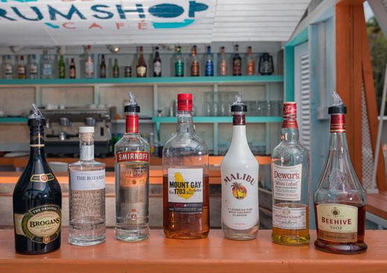 Pre-Stocked Mini Bar at Sea Breeze Beach House Christ Church, Barbados
