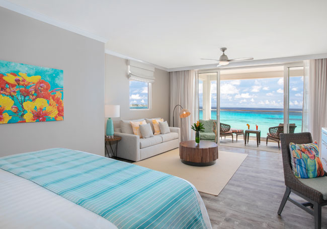 Oceanfront Junior Suite room at Sea Breeze Beach House Christ Church, Barbados